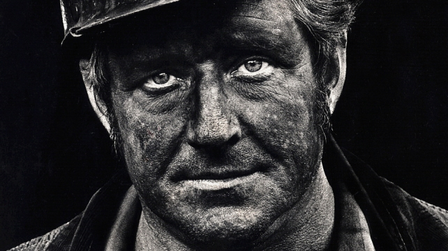 Coal miner Lee Hipshire in 1976, shortly after emerging from a mine in West Virginia, at the end of his shift. At age 36, he had worked 26 years underground. A few years later, Lee took early retirement because of pneumoconiosis, or black lung disease. He died at 57. (Courtesy of Earl Dotter)