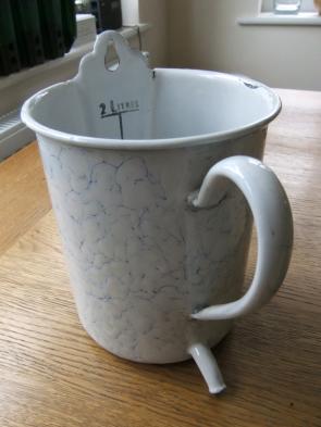 Childhood enigma . . . vintage enema jug.