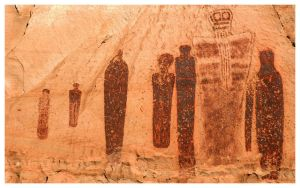 4,000 year-old pictographs at Horseshoe Canyon in Utah.