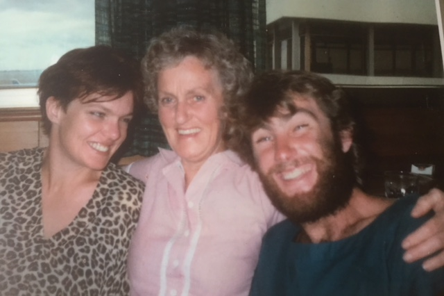 Leaving Auckland with Mum and John who followed a few years later and stayed too.